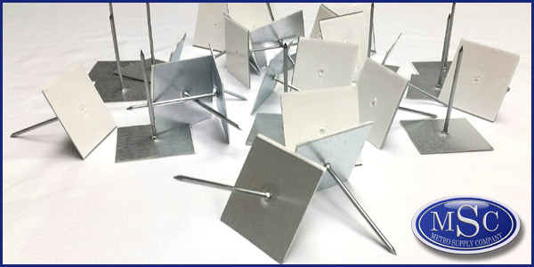 Gemco Insulation Fasteners Self-Stick Perforated Pins - NY & NJ