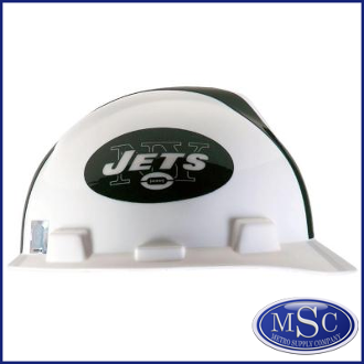 NFL Football Brand Hard Hats by MSA - New York Jets   New York Giants 3ff1ee46ac6
