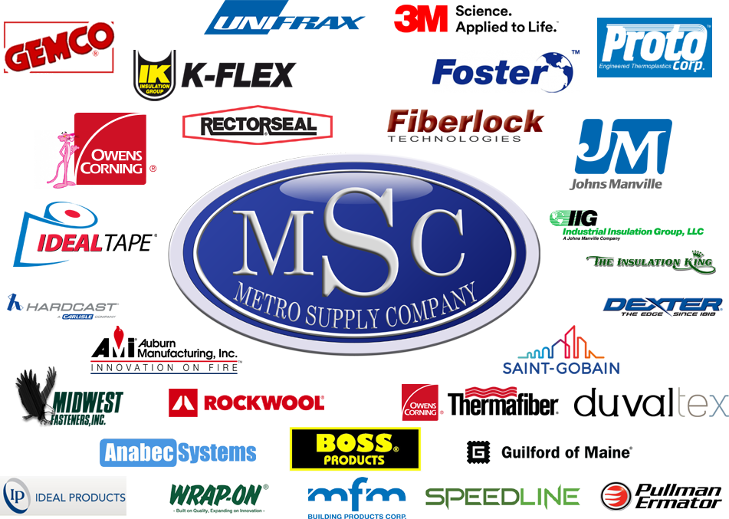 Metro Supply's Manufacturing Partners Logos