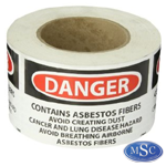 Asbestos Danger Labels
